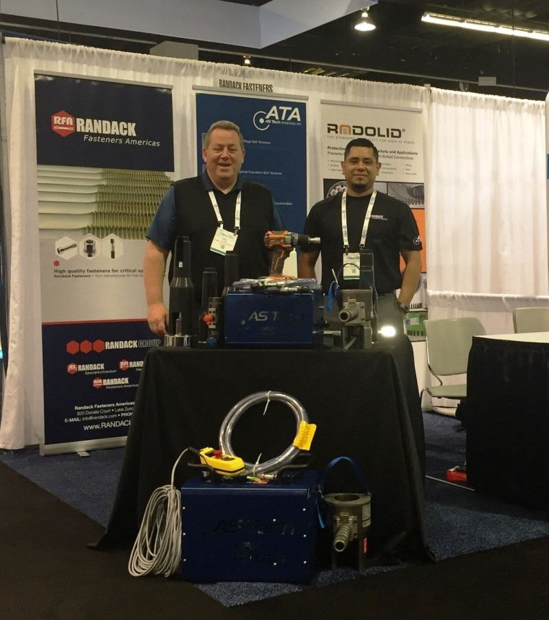 Randack Fasteners Americas exhibited at the AWEA Windpower from 22.-25th of May in Anaheim